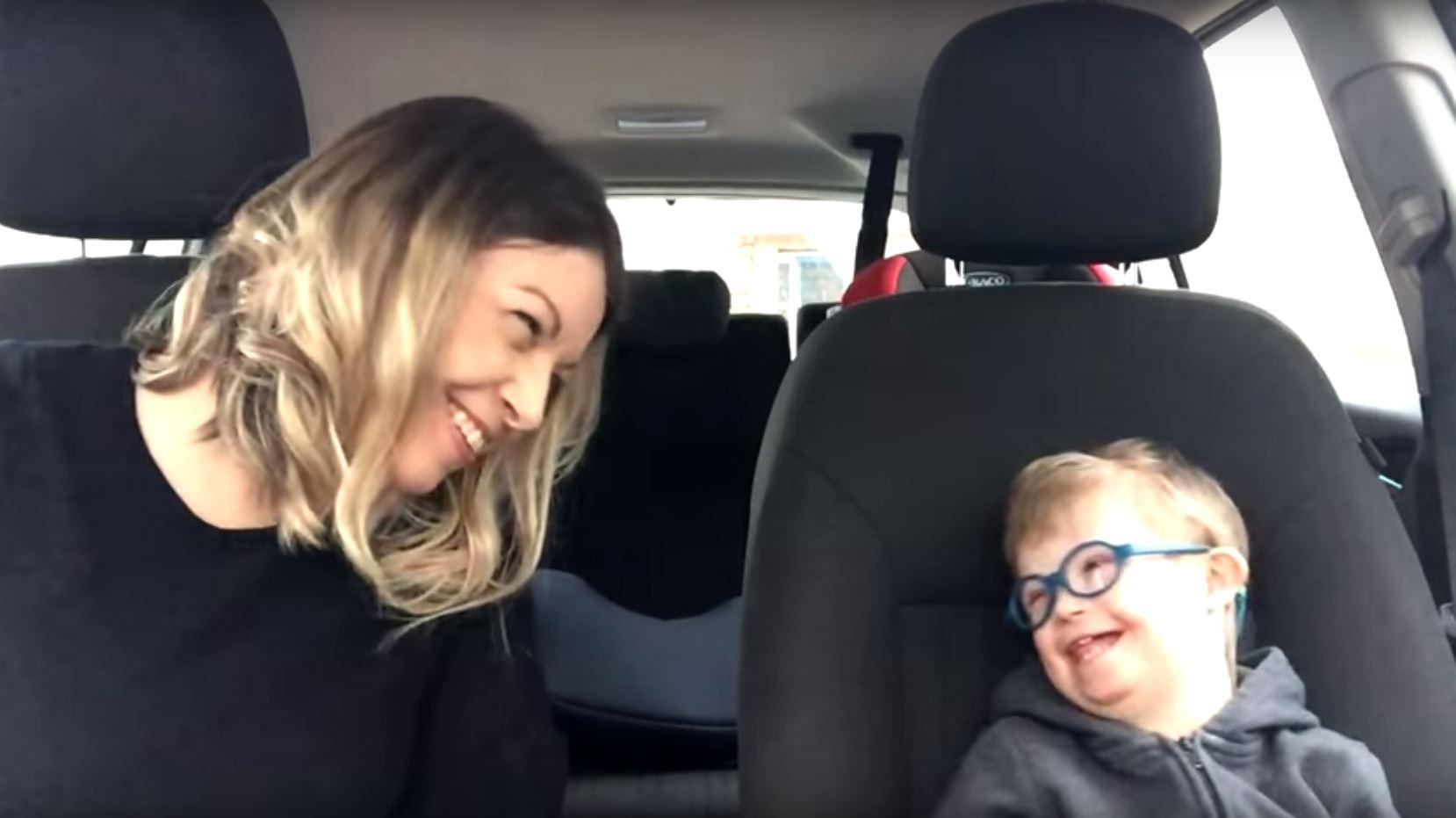 50 mums and their children with Down Syndrome did carpool karaoke and it was amazing