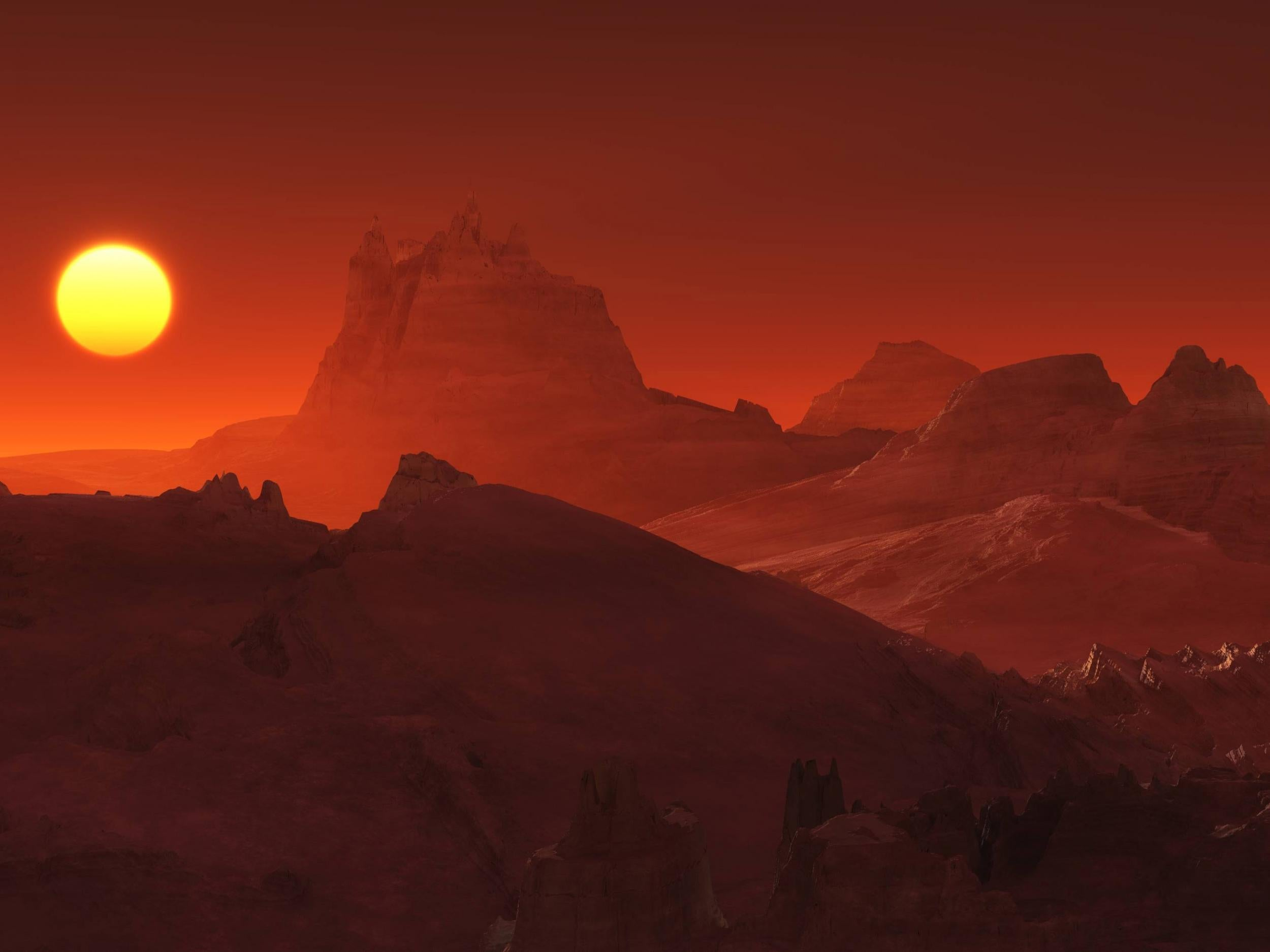 Massive volcanic eruptions on Mars allowed ancient oceans ...