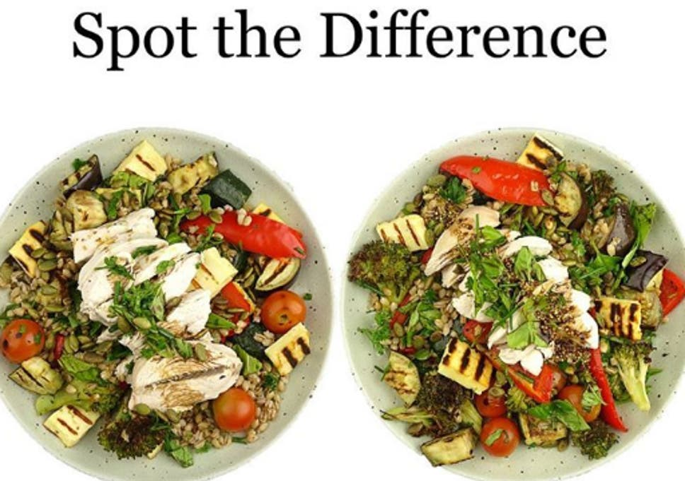 Dietician shows two 'identical' salads side-by-side but one has