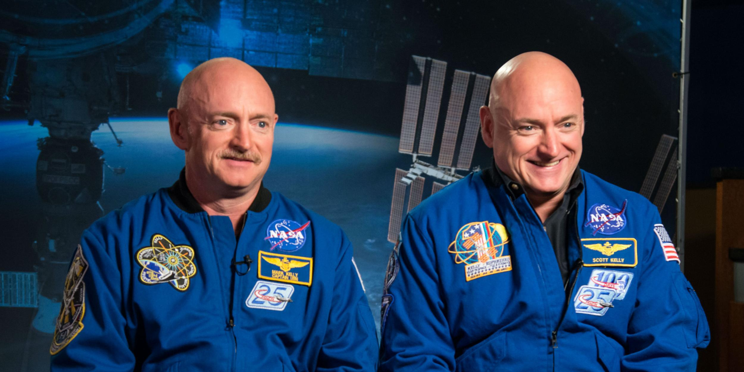 Scientists studied two twins after one spent a year in space while the other was on Earth and this is what they found