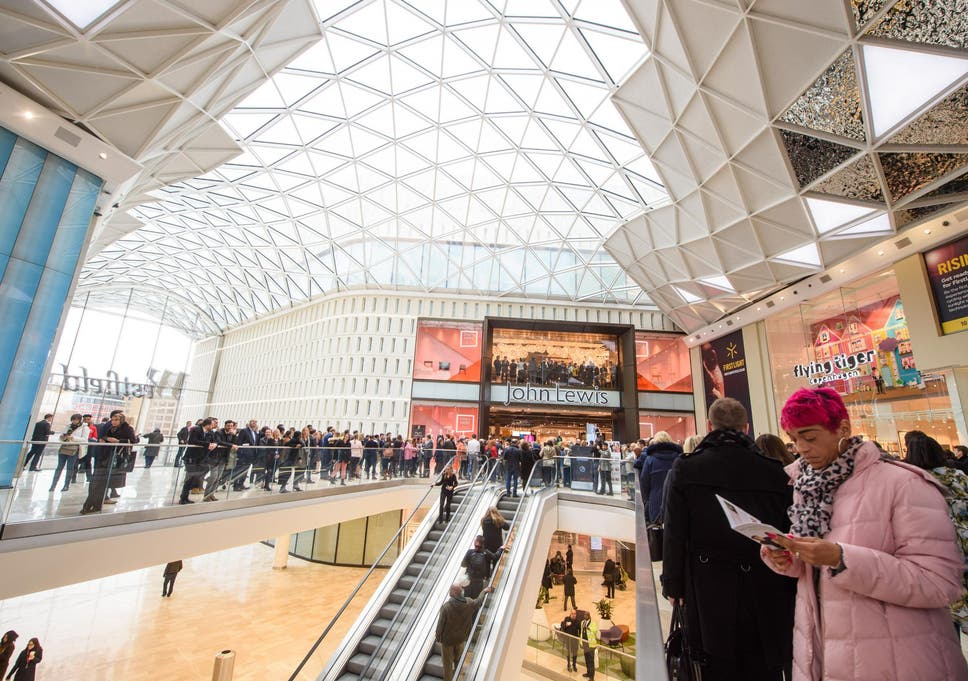 5250d53e67 Shoppers at the opening of the new Westfield London expansion in White  City
