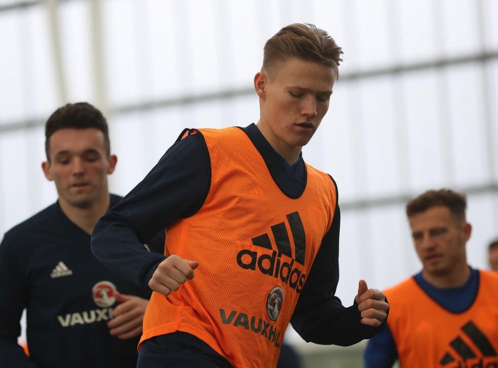 McTominay could make his Scotland debut on Friday