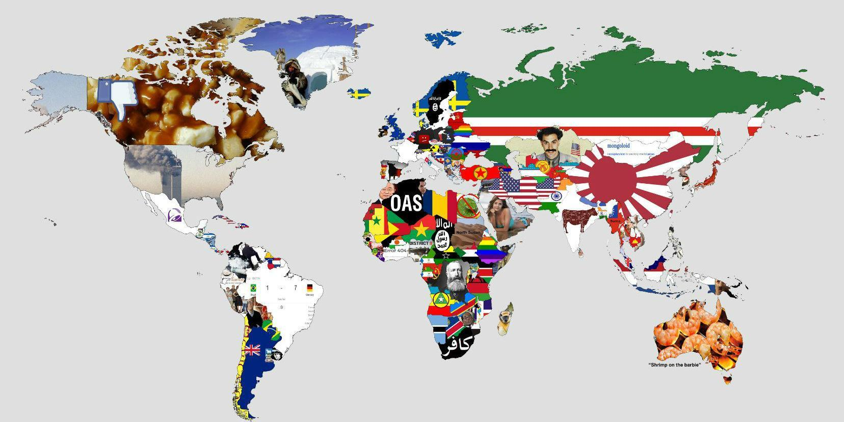 A map of the world that everyone will find offensive | indy100
