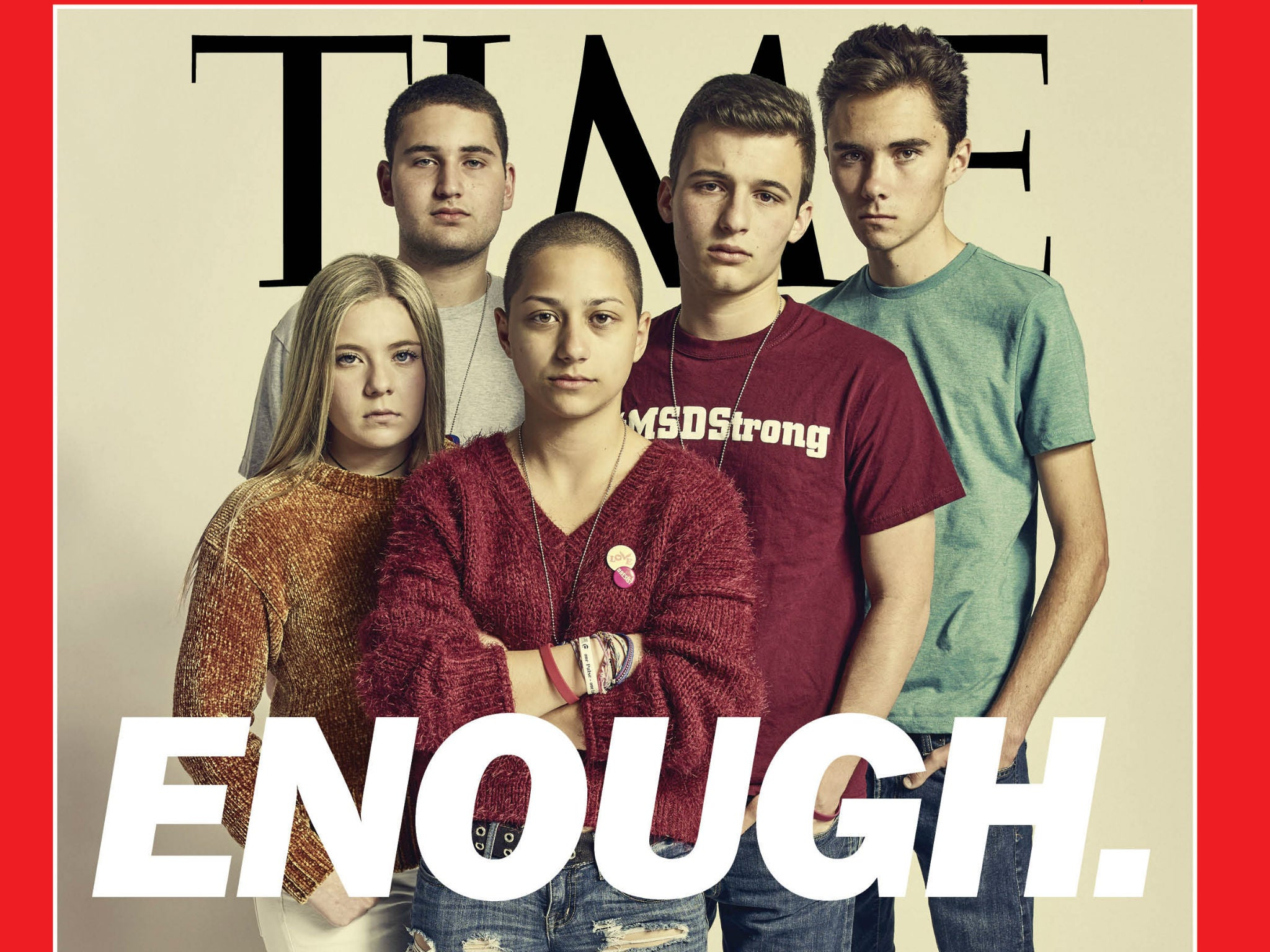 Florida school shooting survivors on cover of time: 'Enough'