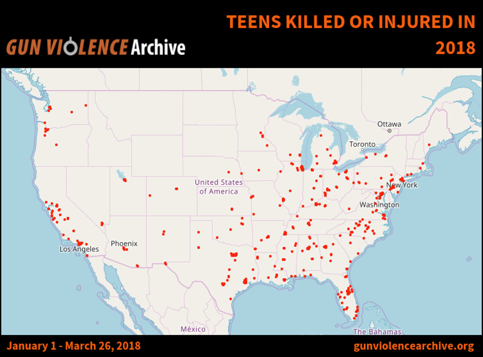 Picture: Gun Violence Archive (Updated: March 26)