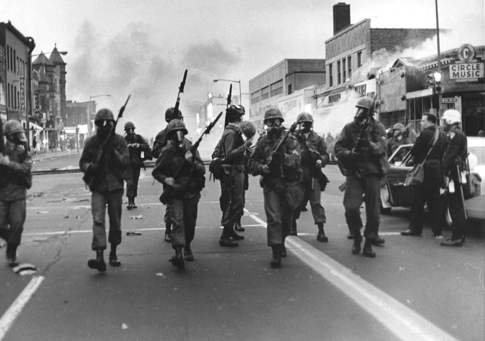 Cavalry Trsweep Along High Street In Washington During The 1968 Riots