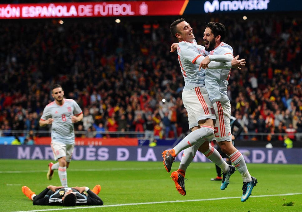 3b4db3f9a9 Spain power past hapless Argentina in World Cup warm-up as Brazil ...