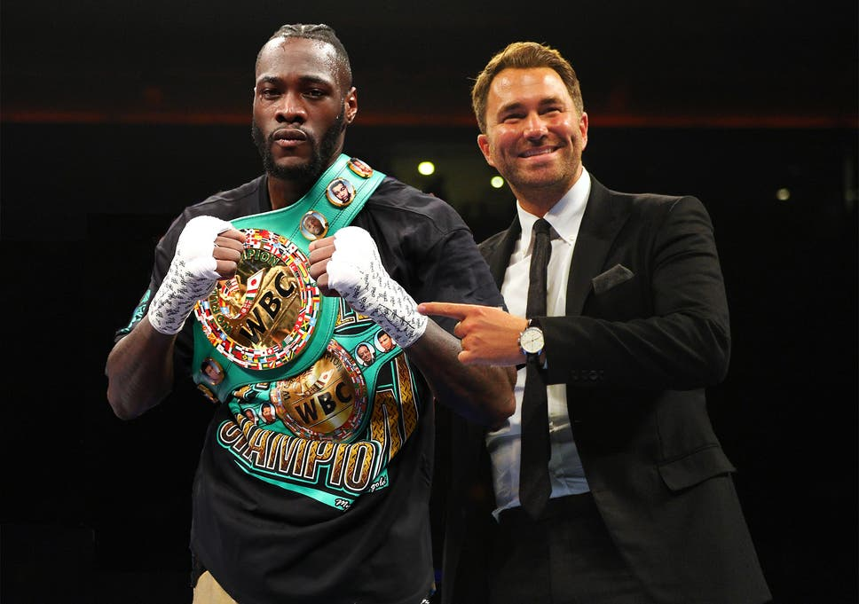 Image result for eddie hearn wilder