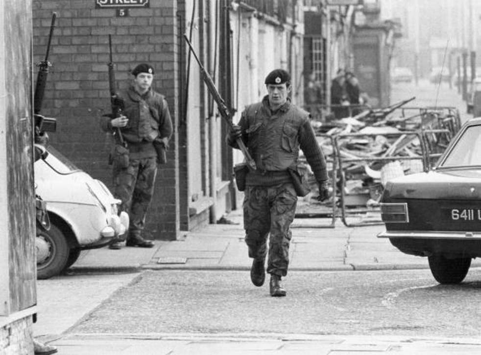 British Army members on the streets of Belfast in 1972