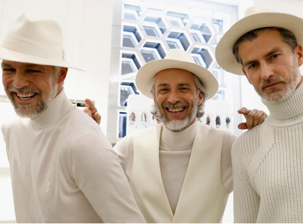 Models at Billionaire's show during Men's Fashion Week in Milan: like the Man from Del Monte, you too can say 'yes' to such an ensemble