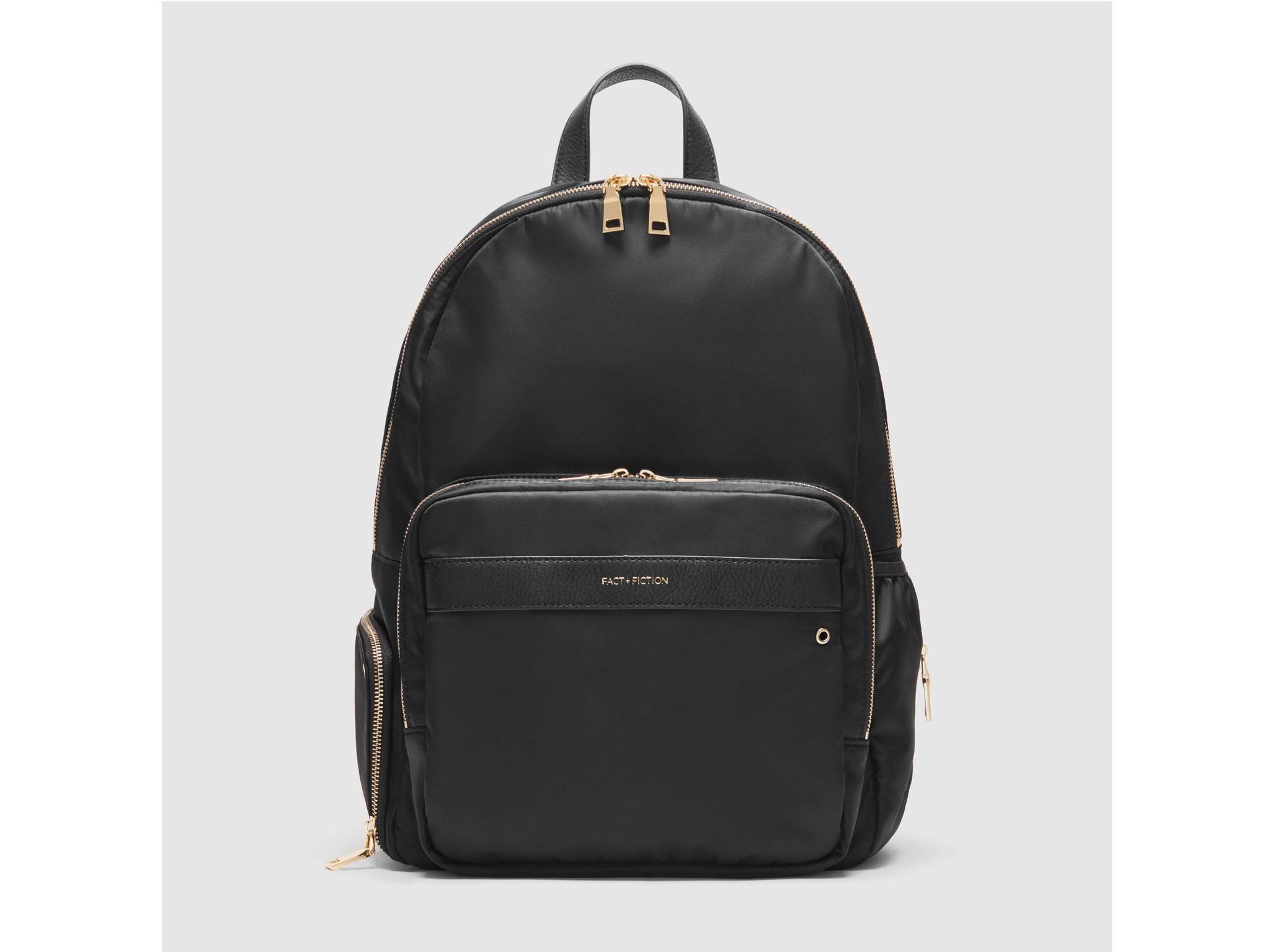 c6fecb14ddd6 Fact + Fiction Lea backpack in black + gold