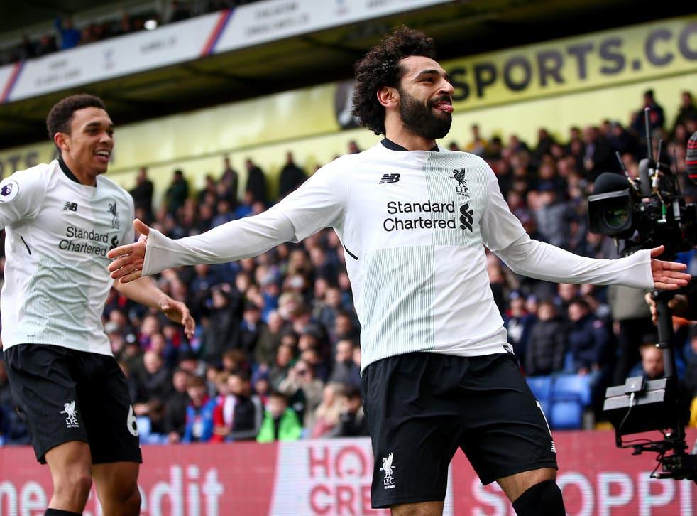 The Premier League's top goalscorer Mohamed Salah starts for Liverpool