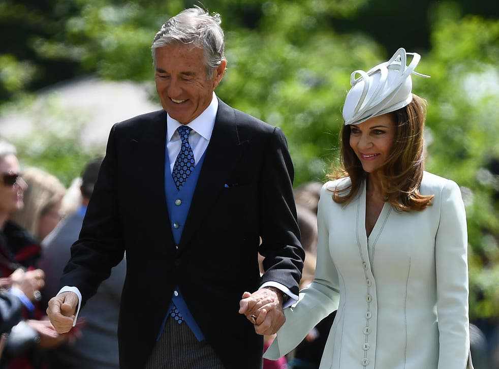 David Matthews with wife Jane at their son James' wedding to Pippa Middleton in May 2017