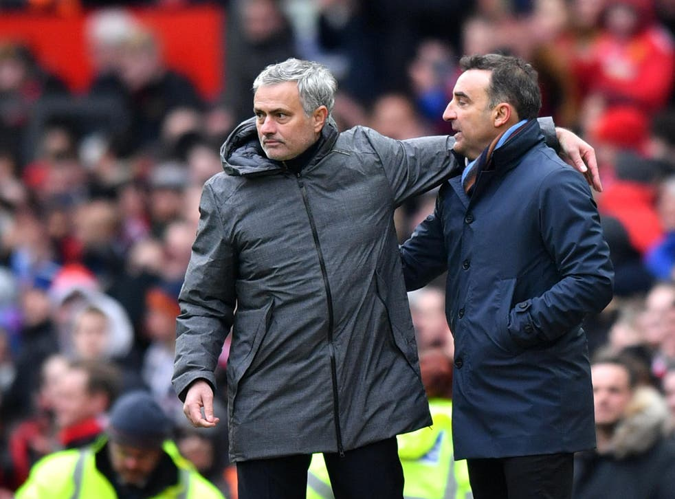 Jose Mourinho invited Carlos Carvalhal into his own press conference after Manchester United's victory