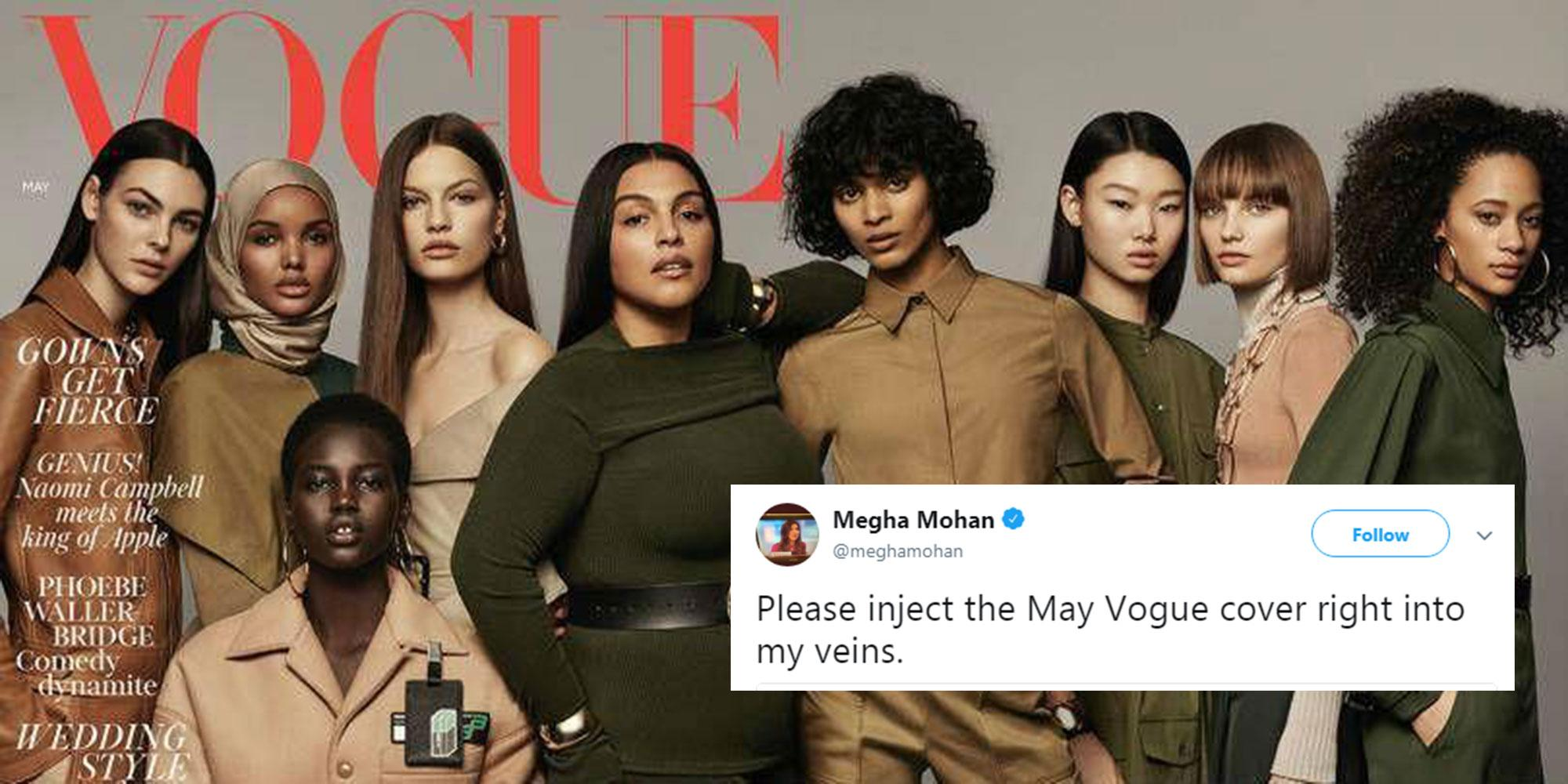People are celebrating the new British Vogue cover for an important