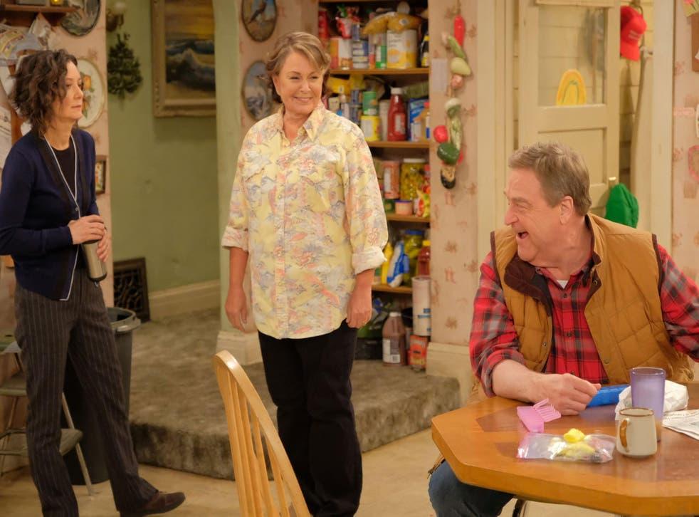 Sara Gilbert, Roseanne Bar and John Goodman on 'Roseanne.' Credit: ABC