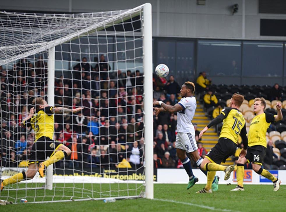 Britt Assombalonga scores Middlesbrough's equaliser at Burton