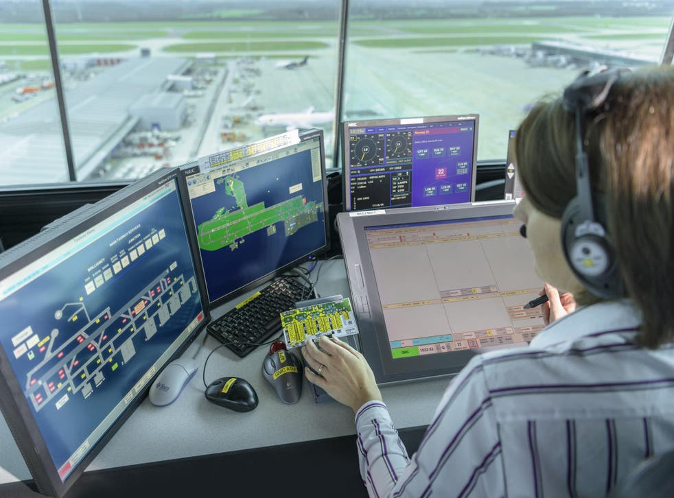 Traffic control: the view from the tower at Stansted Airport