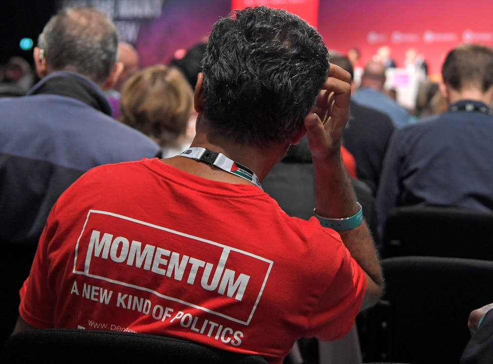 Momentum said it wanted to see a 'new generation of MPs' elected through an 'open, inclusive' selection process