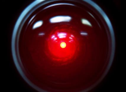 The red HAL eye from '2001: a space odyssey'