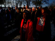 Crowds gather to honour Martin Luther King Jr - live updates