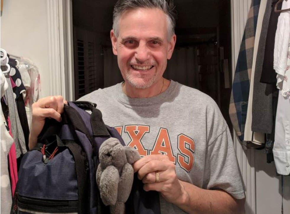 Pat Holmes didn't have any stuffed animals as a child, but treasured the one from his daughter