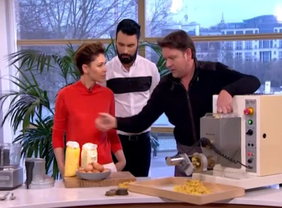 James Martin was mocked by after telling viewers to use pasta machine (ITV)