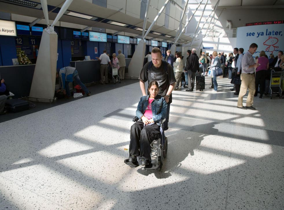 The government has promised to look at how passengers with disabilities are treated at the airport