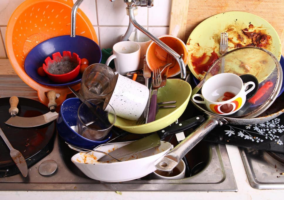 Cleaning dishes is the chore most likely to harm a