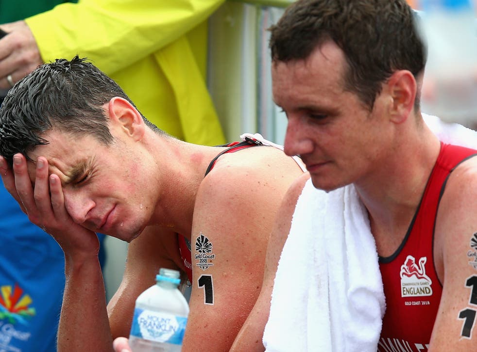 Jonny and Alistair Brownlee failed to finish in the medal positions in the men's triathlon