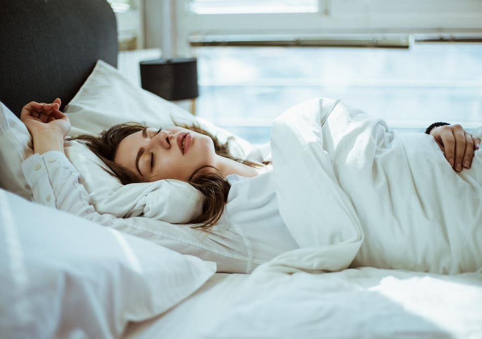 Sleeping on your back is the best position according to experts