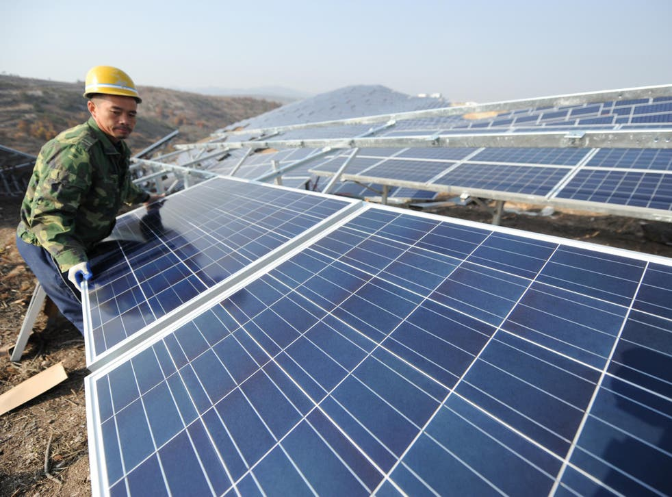 China was largely responsible for the surge in solar energy infrastructure in 2017, accounting for nearly half the global investment