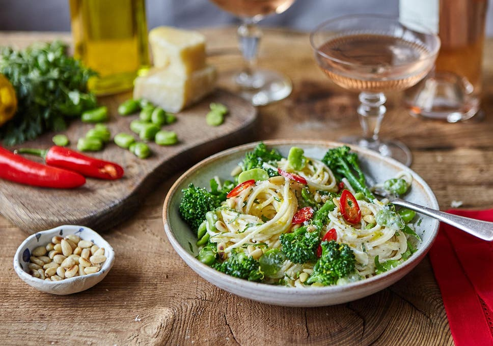 How To Make Lemon Pasta With Broad Beans Parmesan And Chilli In 50