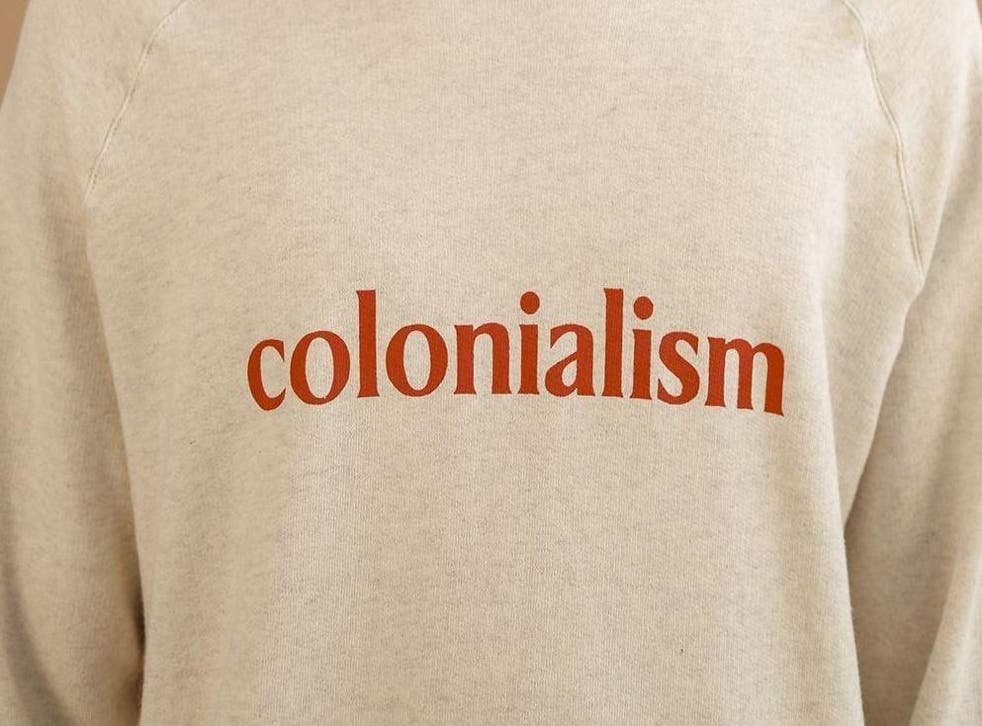 Under fire: Big Uncle's 'Colonialism' sweater has received widespread criticism