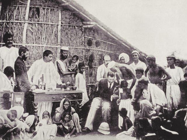 Anti-cholera inoculation in 1894 Calcutta