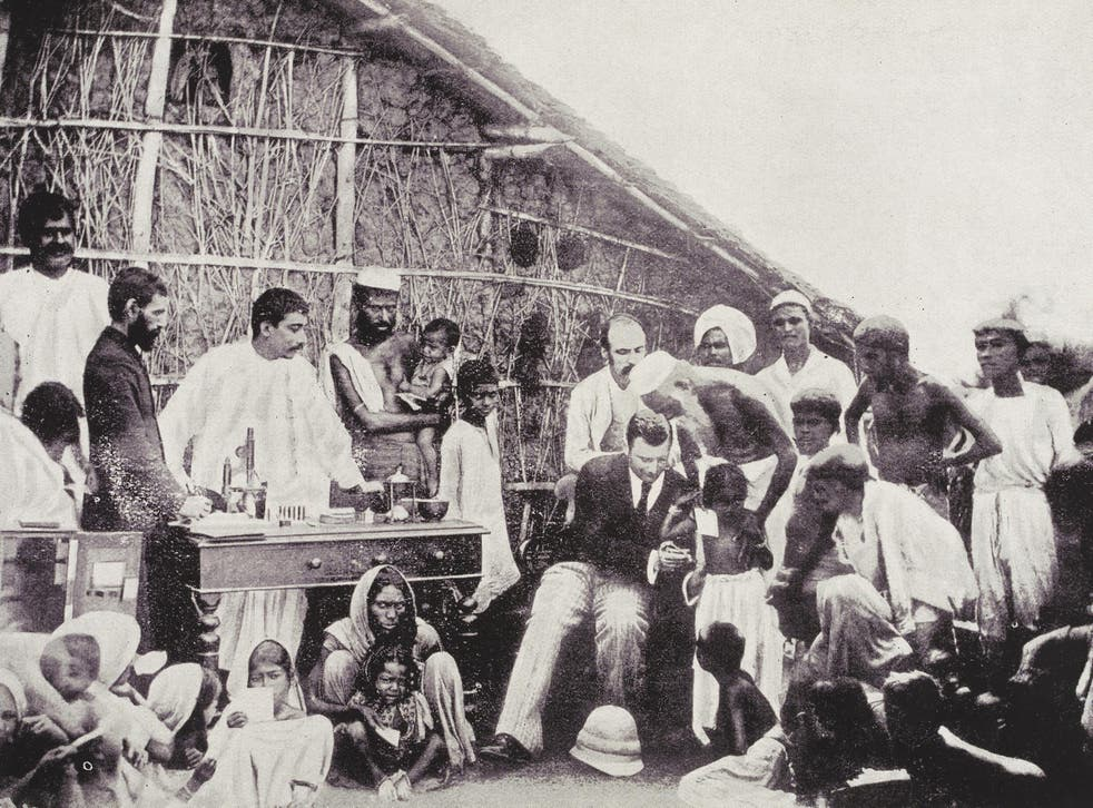 Anti-cholera inoculation in 1894 Calcutta