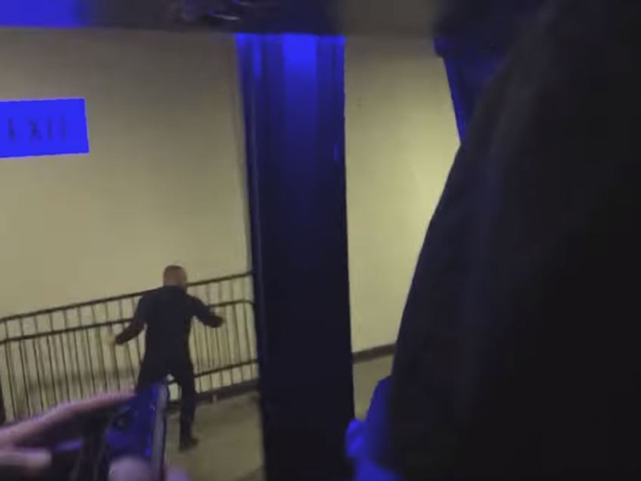 Conor mcgregor arrest new video footage shows irish stars violent mcgregor then picks up a security barrier but is stopped from throwing it youtubeufc reheart Choice Image