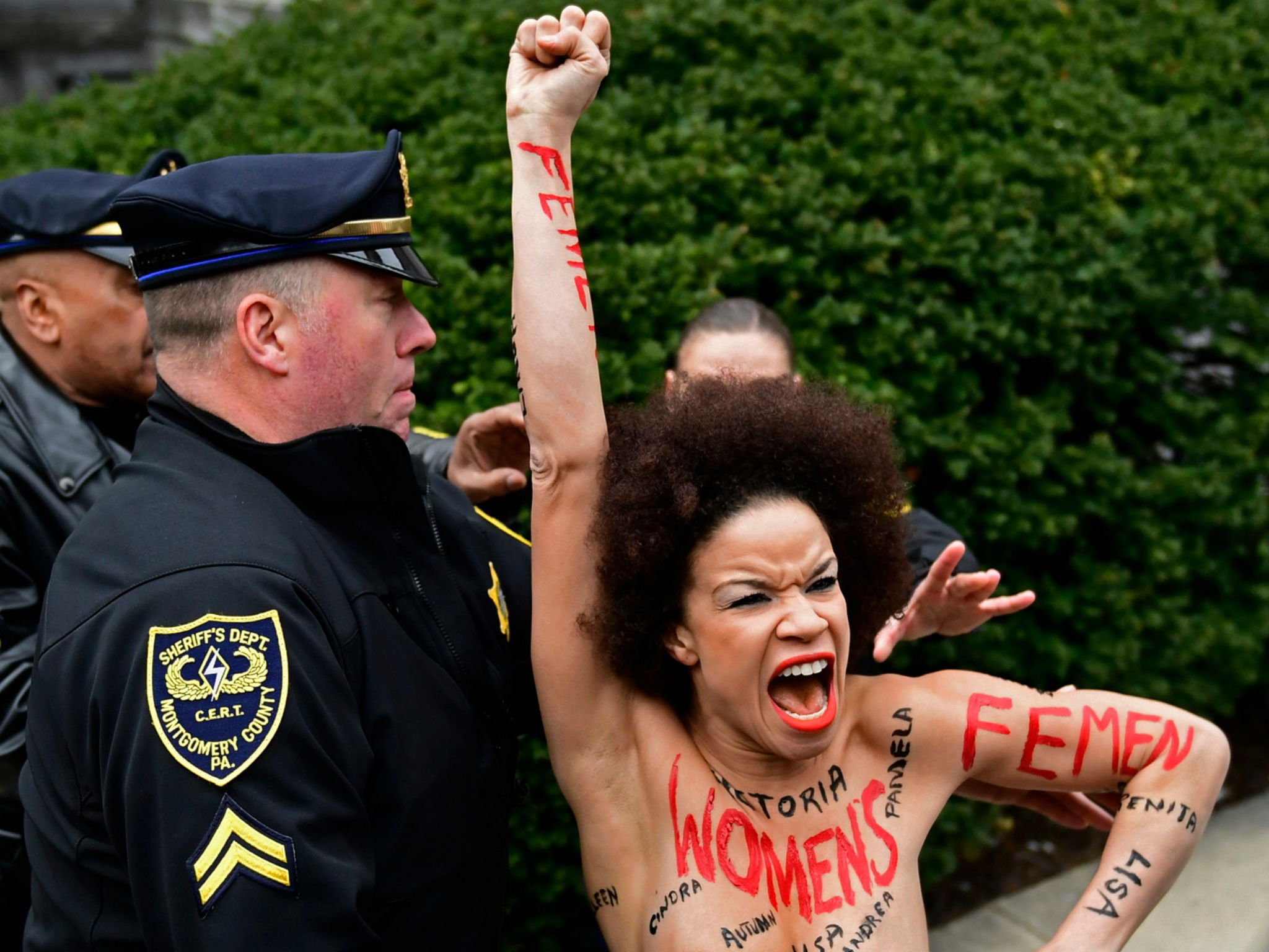 Who Is Nicolle Rochelle? Topless Protester at Bill Cosby