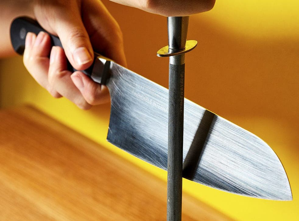 Honing, as seen here, is just one of the ways you can prolong the life of your knife
