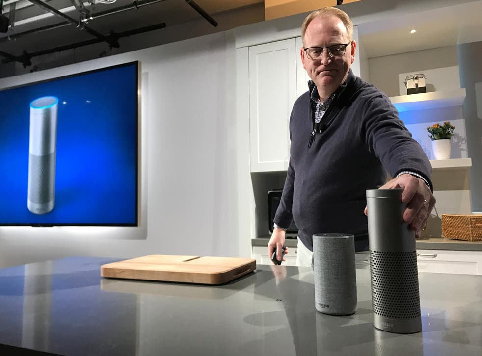 Amazon's senior vice president David Limp with the voice-controlled Echo