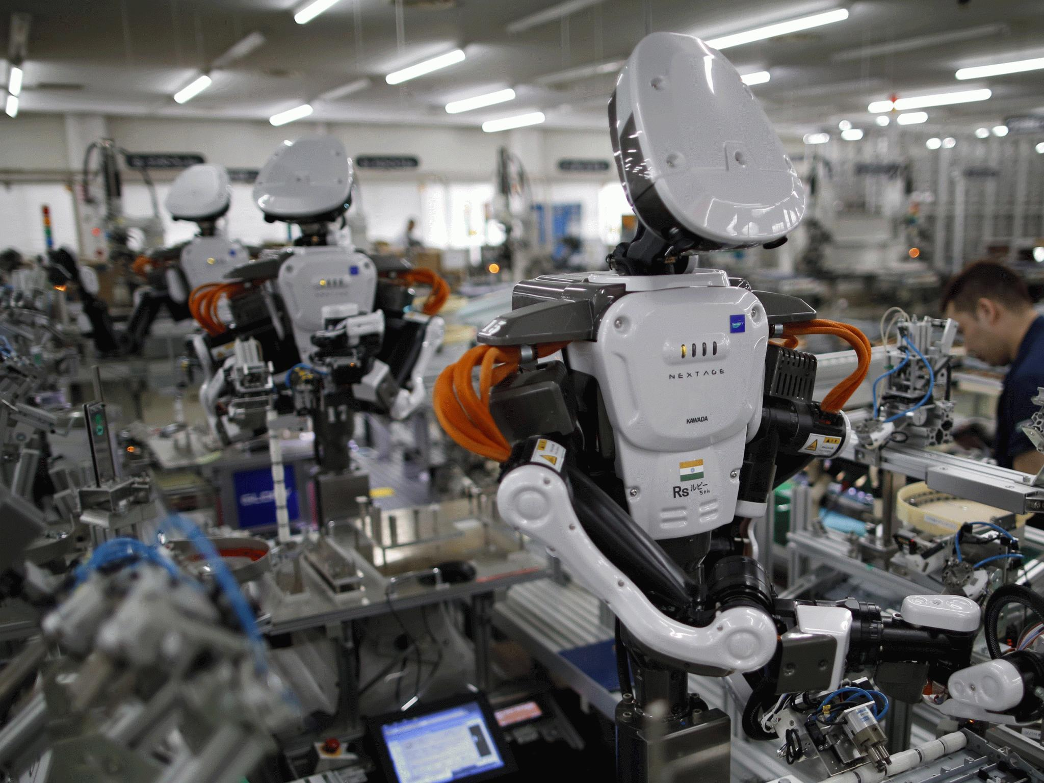 We should be pleased that robots are taking over some of our old jobs