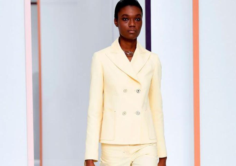 100% authentic bc1f8 29b79 Pastel power: The new way to wear the trouser suit trend for ...