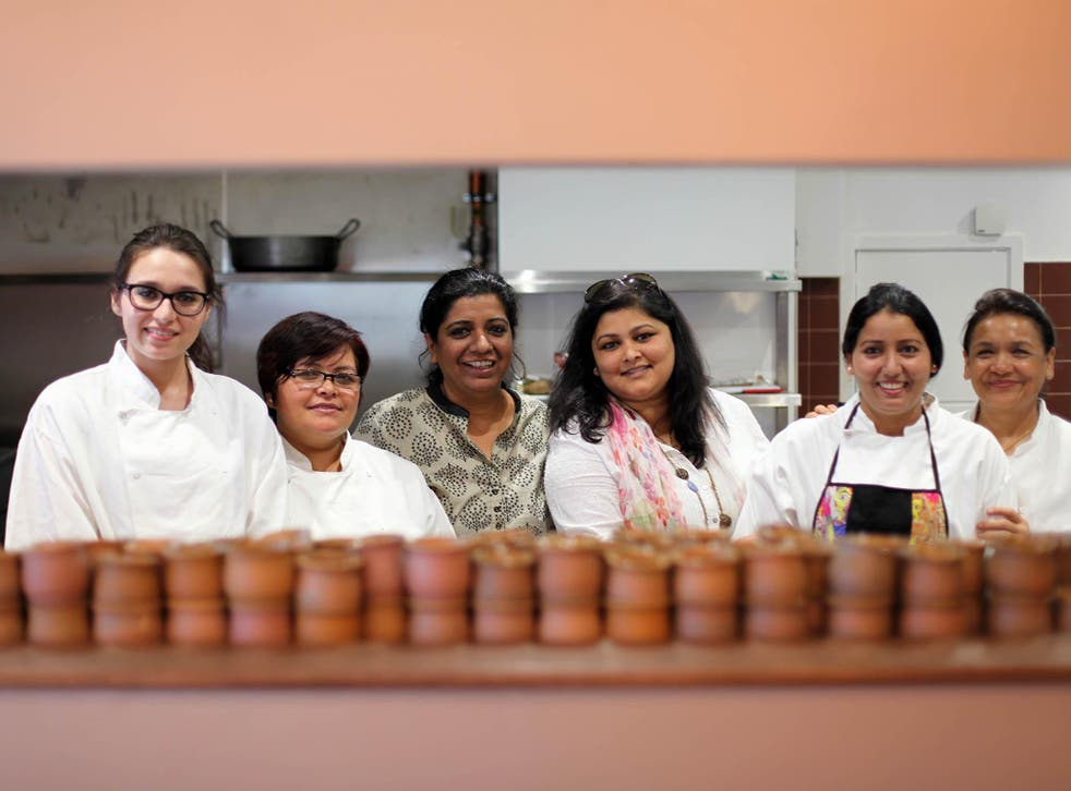 Running a kitchen entirely made of south Asian non-professionally trained female chefs, Khan is hoping to inspire other restaurants to be more open too