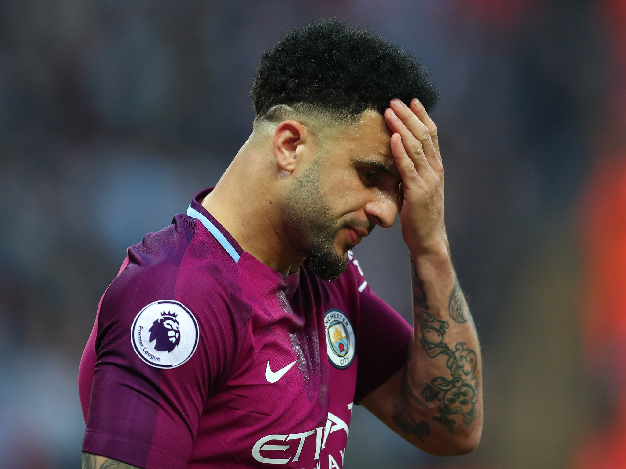 kyle walker admits manchester city�s three straight