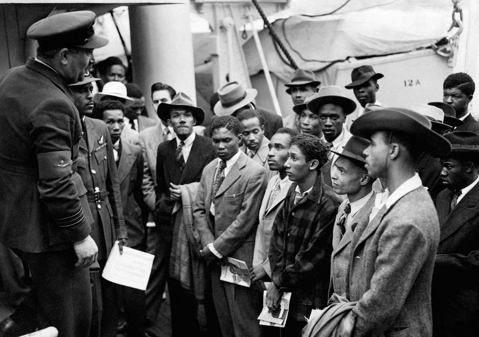 File Photo Dated 22 06 48 Of Jamaican Immigrants Being Welcomed By RAF Officials