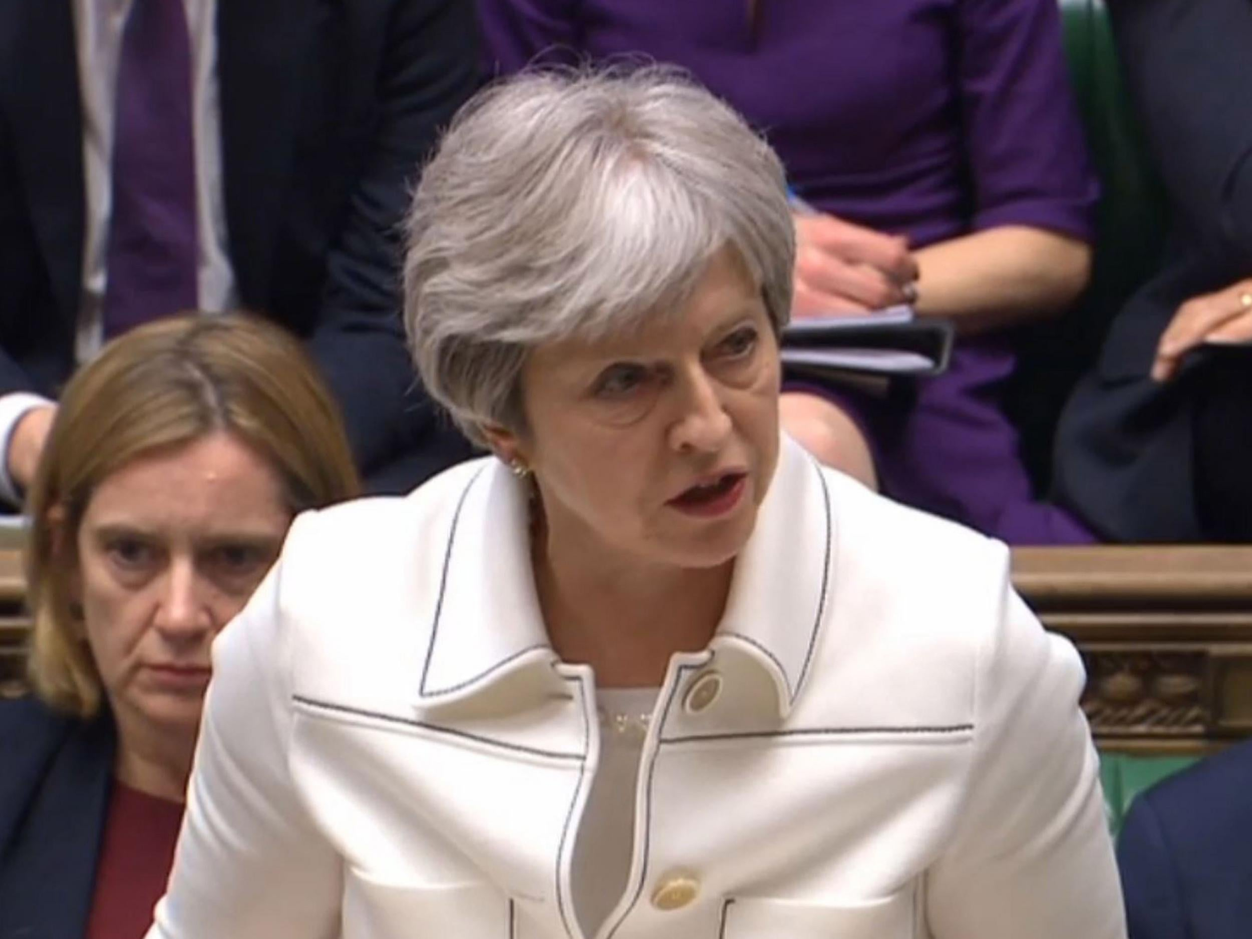 Theresa May defends Syria air strikes amid criticism for refusal to grant parliamentary vote