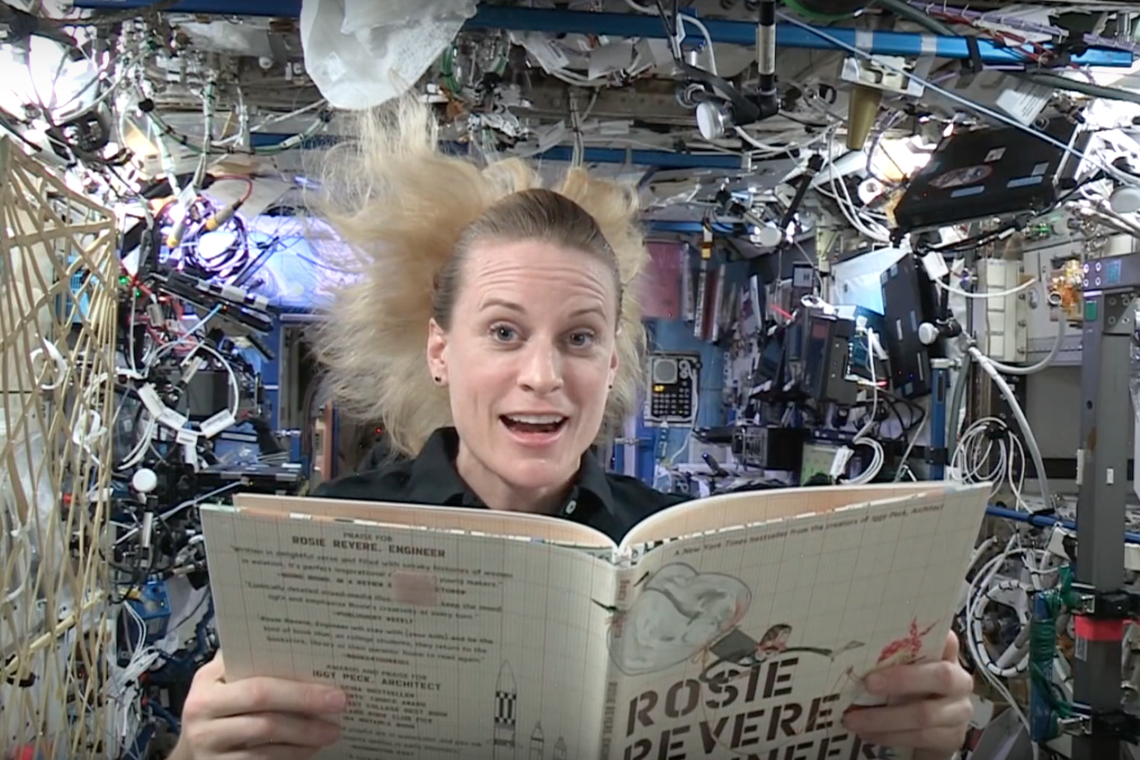 Your children can watch astronauts reading stories from space