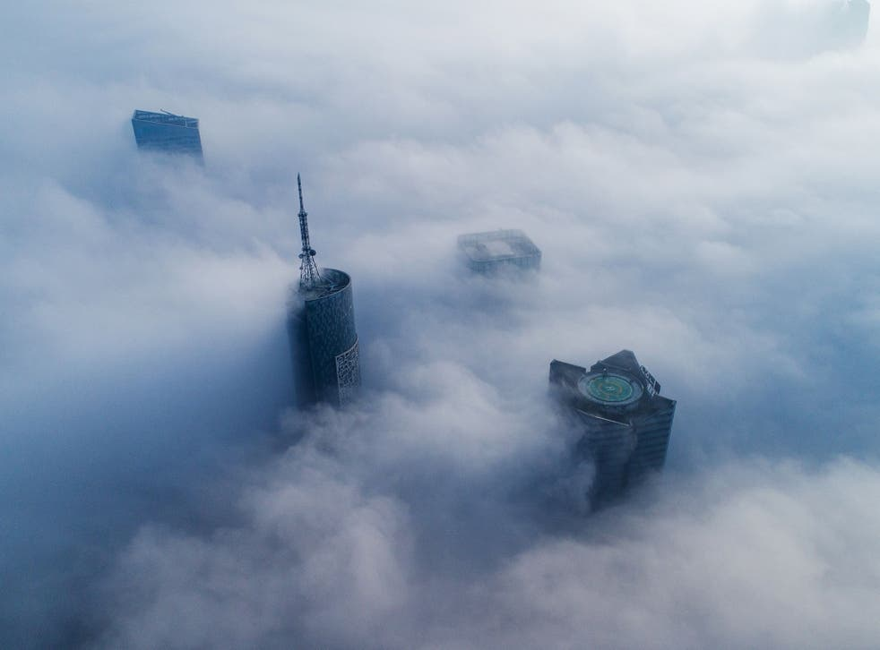 Skyscrapers in Hefei, in eastern China's Anhui province. India and China account for over half (51 per cent) of all global deaths from outdoor air pollution