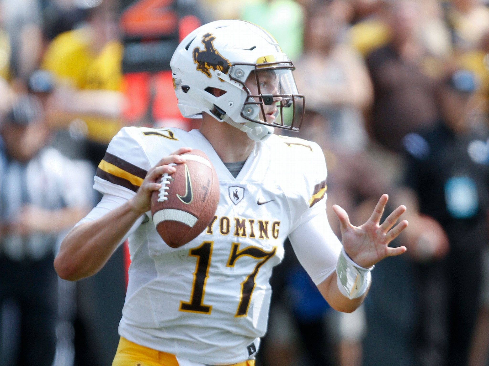 e439e5cb2 NFL Mock Draft  Josh Allen goes first overall as SIX quarterbacks ...
