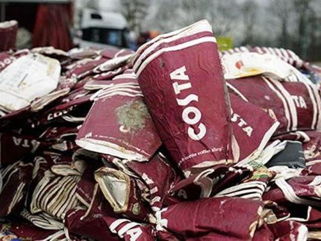 Greenpeace said it was 'galling' the Treasury scrapped plans for a levy on throwaway cups after lobbying from Costa (file photo)